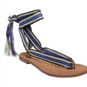 NWT Sam & Libby Blossom Braided Tie Sandals
